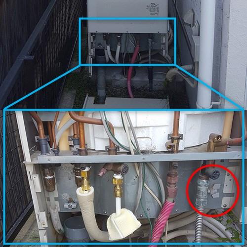 エコキュート止水栓